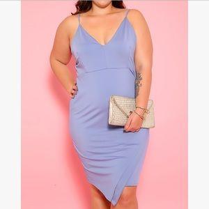 Periwinkle Sleeveless Plus Size Dress